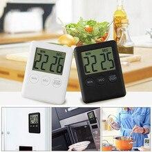 Цифровой таймер напоминание Будильник ЖК-дисплей кулинарные часы кухня большой отсчет-Вниз Вверх громкий