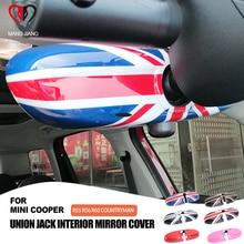 Union Jack Interior Mirror Cover Shell Sticker Protective Case For mini cooper R55 R56 R60 R61 Countryman Car-styling Accessorie