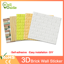 3D Wall Stickers Brick Self-Adhesive Waterproof DIY Decor paper For Bedroom Kids Room Living