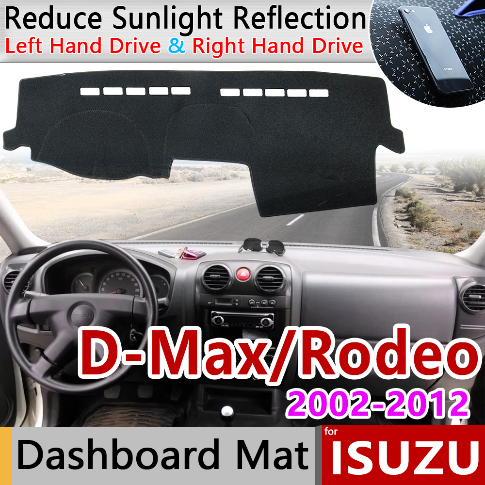 For Isuzu D-Max LUV Colorado Rodeo KB LB Canyon 2002~2012 RA RC Anti-Slip Mat Dashboard Cover Pad Sunshade Dashmat Accessories