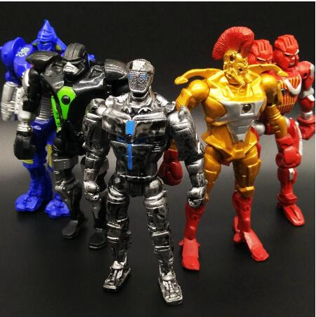 13cm 8pcs/set Real Steel Zeus Atom Midas Adam Duracell Raider Robot Model Toys Gift Action Figure Cartoon Dolls OPP Packaging