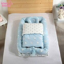 Co-Schlafen Bett Krippe Tragbare Baby Bionic Bett Waschbar Reise Bett Abnehmbare Baumwolle Cradle Anzug für 0-3Y Kinder