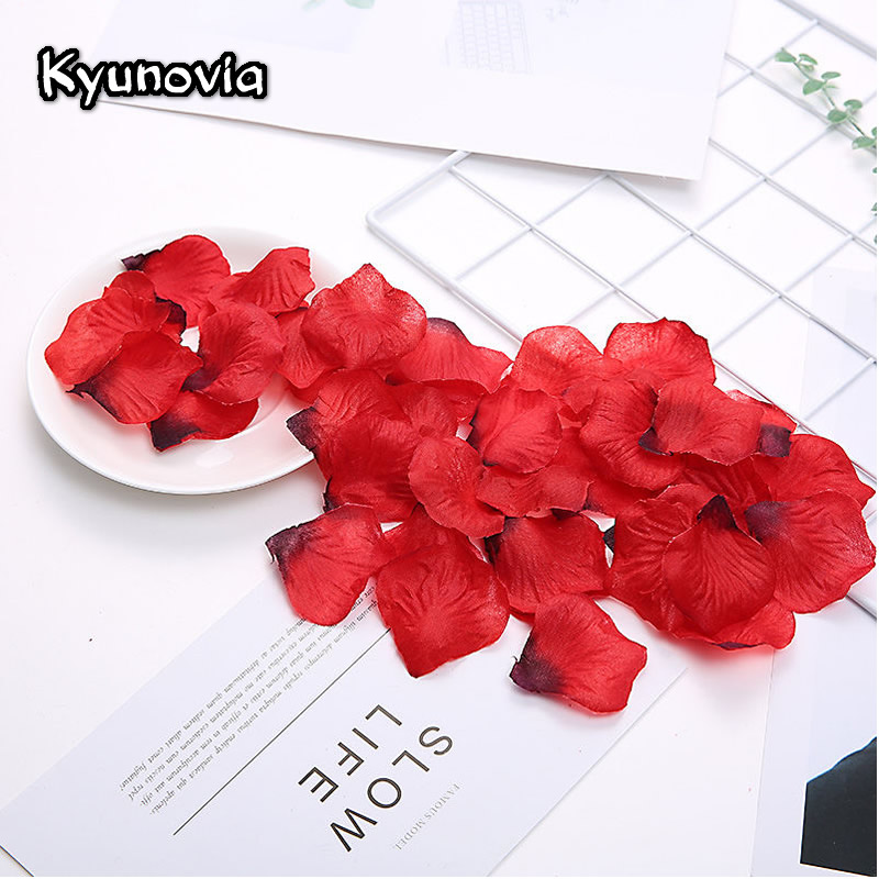 Artificial Rose Petals Flower Confetti For Wedding Aisle Anniversary Bridal Shower Birthday Party Favor Home Decor Supplies HY01