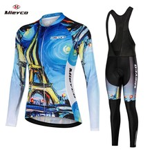 2020 Women Team Pro Biking Long Sleeve Cycling Jersey set Racing Bicycle Clothing Ciclismo Ropa Ciclismo MTB Bib Cycling Pants 2017 xintown long sleeve bicycle wear cycling jersey sets ropa ciclismo racing wicking sportswear men outdoor pro team clothing
