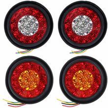 12V 16LED Brake Stop Warning Reflector Light Round Rear Tail Marker Lamp For Car Motorbike Truck Turn Signal Light