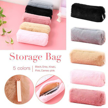 Girl Cute Pencil Case Plush Fuzzy Fluffy Makeup Coin Purse Storage Bag for Women High Quality