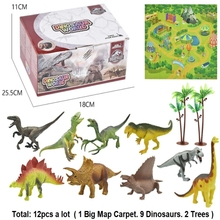 цена на rassic Dinosaurs park toy Triceratops Indomirus T-Rex Dinosaurs World Figures DIY scenario kids toy gift Action Figure Model Toy