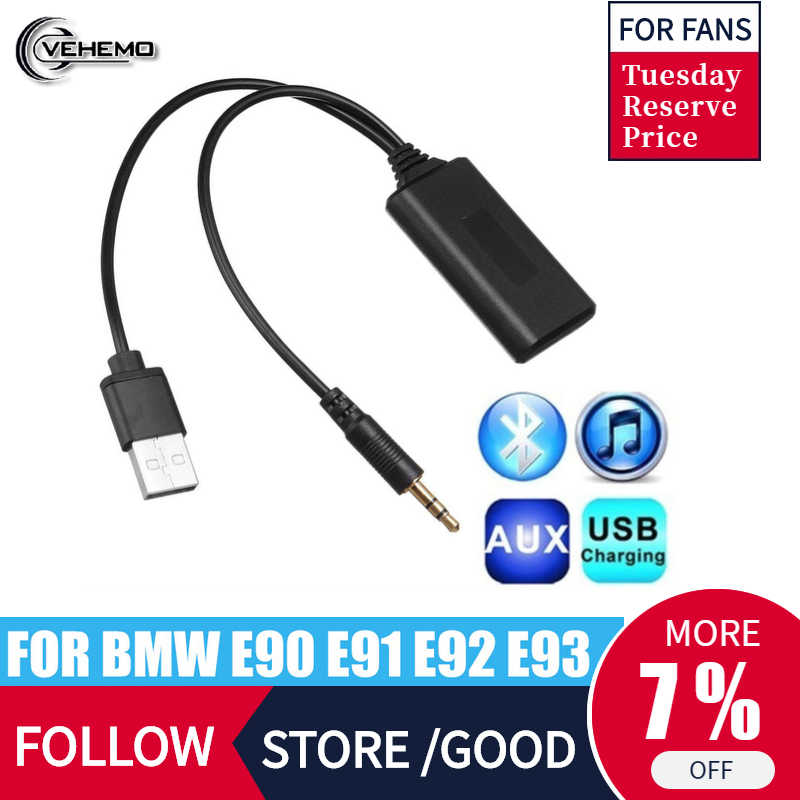 Para BMW E90 E91 E92 E93 receptor Bluetooth Radio de coche 3,5mm Jack Plug AUX-IN Cable auxiliar BT5.0 música adaptador Bluetooth