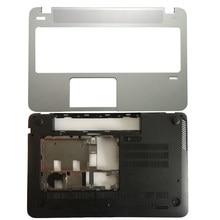 Новый чехол для HP for Envy 15-J 15-J000 15-J100 чехол для поддона ноутбука Серебристый/Нижний Базовый чехол для ноутбука черный
