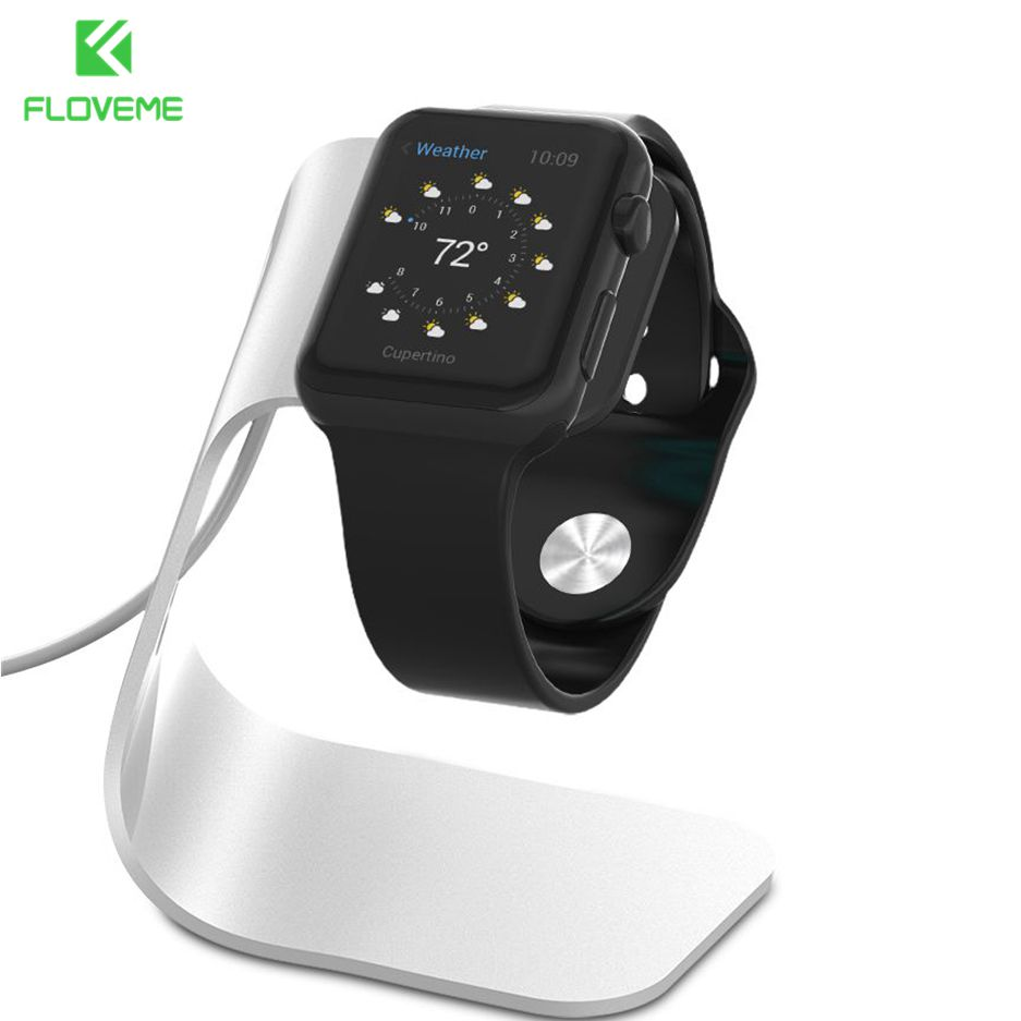 FLOVEME Metal Aluminum Charger Stand Holder for Apple i Watch Bracket Charging Cradle Stand Charger Dock Station 2020 NEW