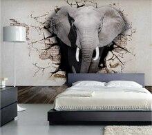 Индивидуальные 8d фото обои 3d росписи стерео слон художественный