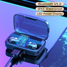 Bluetooth V5.0 Earphones Mini TWS Earbuds Wireless Headphones Stereo Sports Waterproof Earphone for Phone