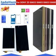 شاشة أصلية مقاس 5.2 بوصة لهاتف SONY Xperia Z5 شاشة LCD تعمل باللمس مع إطار لهاتف SONY Xperia Z5 شاشة LCD مزدوجة E6653 E6603 E6633 E6683