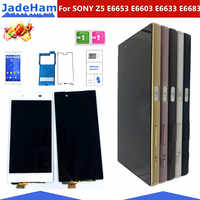 """Original 5.2 """"Display Für SONY Xperia Z5 LCD Touch Screen mit Rahmen Für SONY Xperia Z5 Dual LCD Display e6653 E6603 E6633 E6683"""
