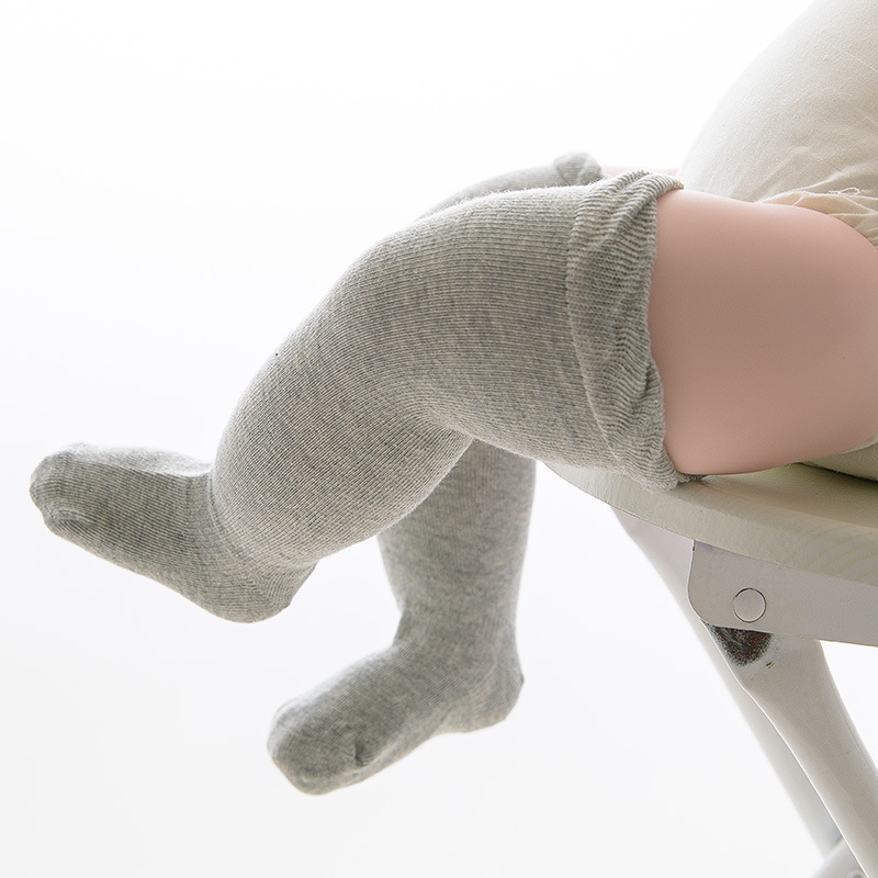 Купить с кэшбэком 1 Pair Mesh Breathable Kids Socks Baby Boneless Loose Long Socks Baby Knee High Socks Summer Infant Baby Socks 0-5T