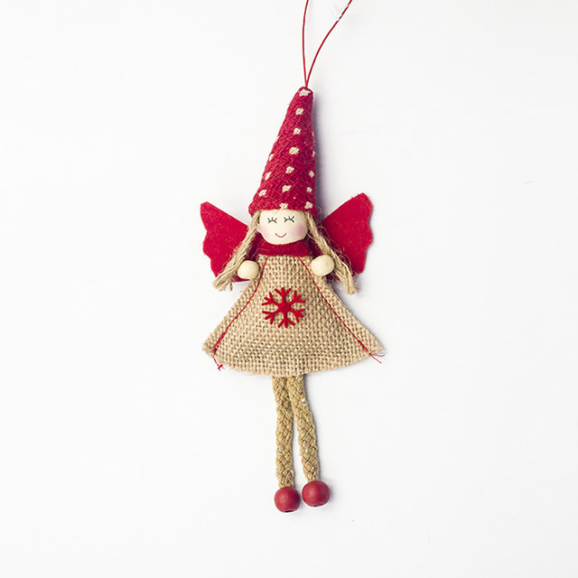 1pcs Angel Doll Pendants Christmas Hanging Ornaments Small Gift for New Year Xmas Party Decoration Baubles SA146 18