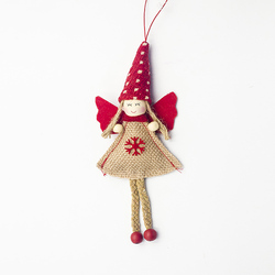 1pcs Angel Doll Pendants Christmas Hanging Ornaments Small Gift for New Year Xmas Party Decoration Baubles SA146 5