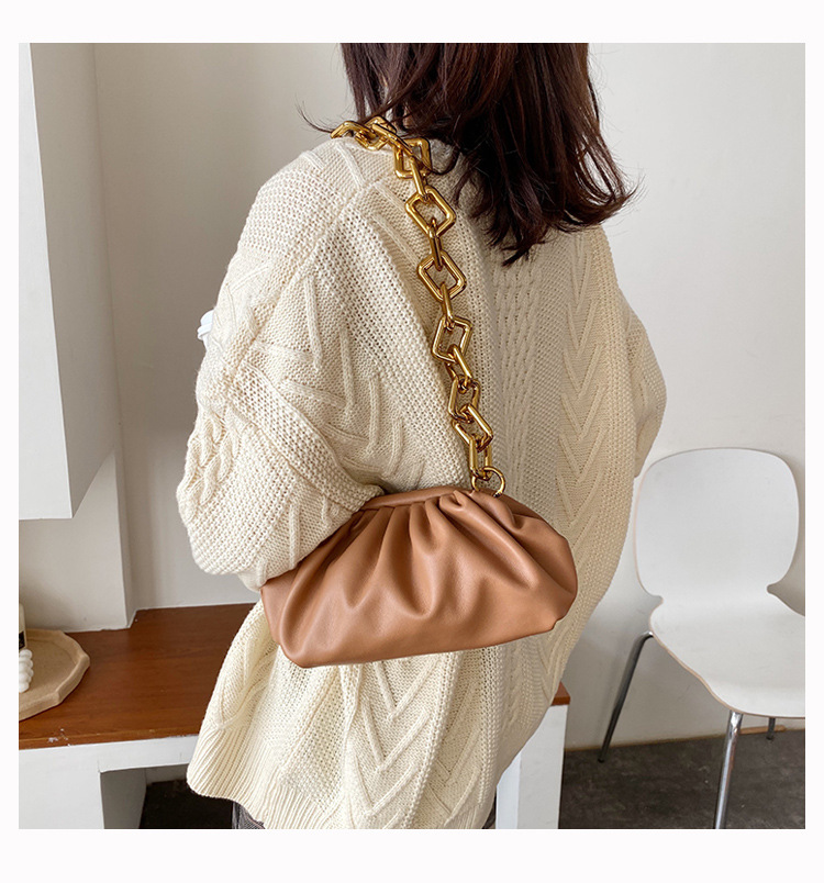 Had6283b69c85478990ba568c2c96322cg - Women's Personality Thick Chain Soft Leather Cloud Bag Casual Wild Shoulder Bag Party Evening Clutch Bag Fashion Dumplings Bag