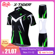 X-Tiger Jerseys-Set Cycling-Suit Mountain-Bike Summer MTB Bicycle