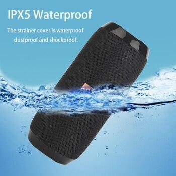 Outdoor Bluetooth Speaker Portable Bass Stereo Wireless Column Subwoofer Computer Speaker Support FM Waterproof Speakers 2