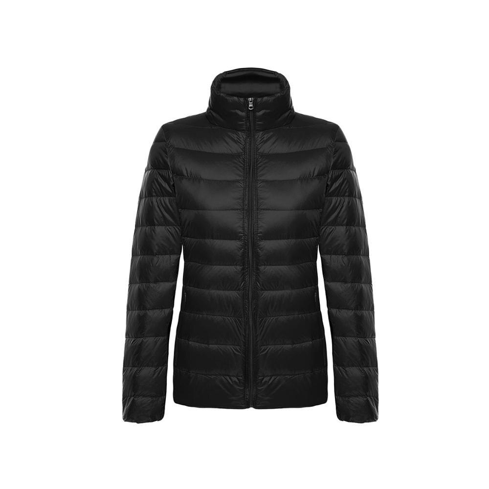 Autumn Winter Women's   Jacket   Casual Ultra Light Duck Down   Jacket   Coat Warm Slim Large Parka Black Pink Plus Size   Basic     Jackets
