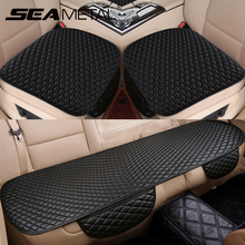 3pcs Universal Car Seat Cover PU Leather Cushions Organizer Auto Front Back Seats Covers Protector Mat Four Seasons Accessories