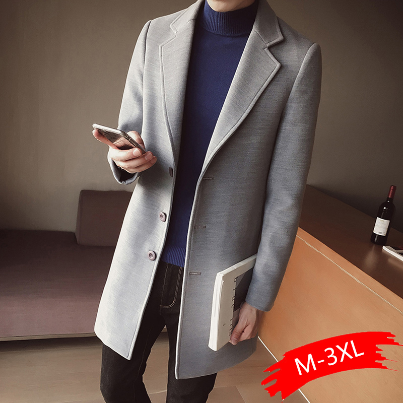 Man Classic Fashion Trench Coats 2020 Black Red Army 5XL Men Long Coat Slim Fit Overcoat Men Fashion Autumn Winter Outerwear