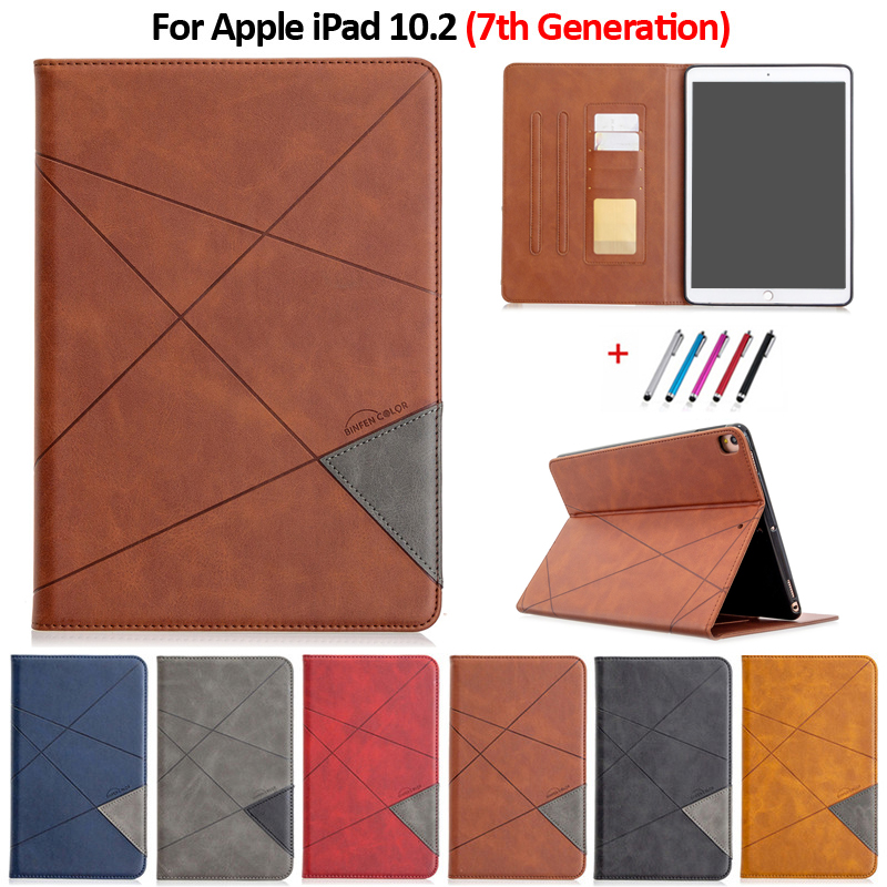 Case 10 Stand For iPad iPad For Tablet Funda Leather Wallet Luxury 2019 PU 10.2 Flip