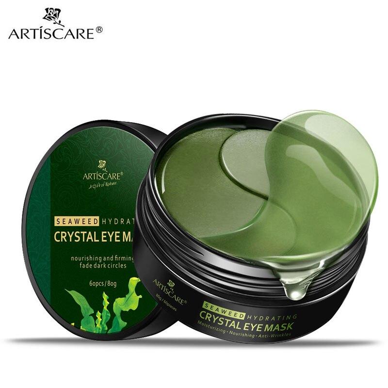 ARTISCARE Seaweed Eye Mask 60pcs Remover Dark Circles Collagen Gel Eye Patches Anti-Puffiness Anti-Aging Moisturizing Eyes Care