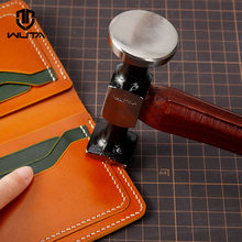 WUTA Leather Steel Hammer Original Design Carbon Steel Double Head Smooth Hammer Mallet Professional Leather Craft Tool 1 PCS