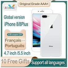 Apple – authentique smartphone iPhone 8 Plus débloqué, téléphone portable d'occasion, version globale, 4.7/5.5 pouces, 8 p