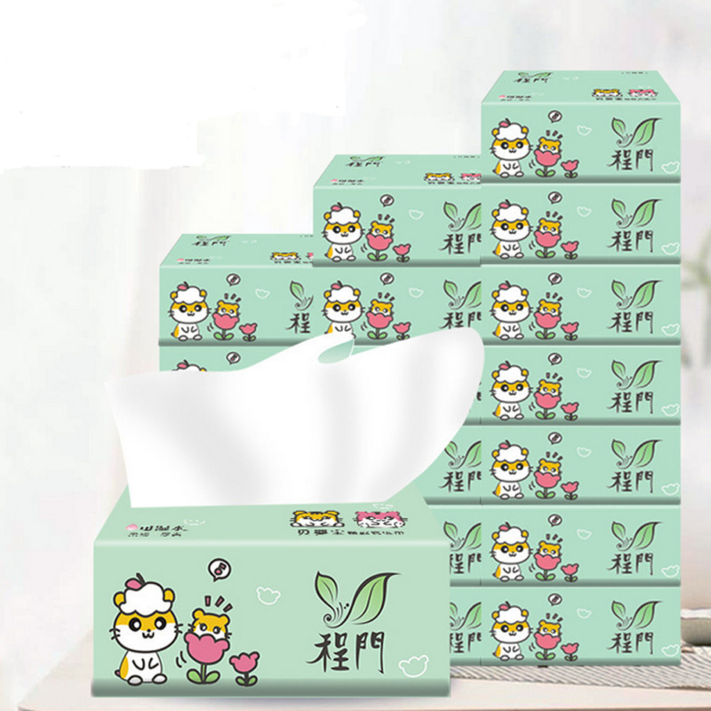 10 Packs 4 Layers Paper Pumping Household Thickening Tissue Paper Toilet Paper Hotel Restaurant Paper Towels Facial Tissue