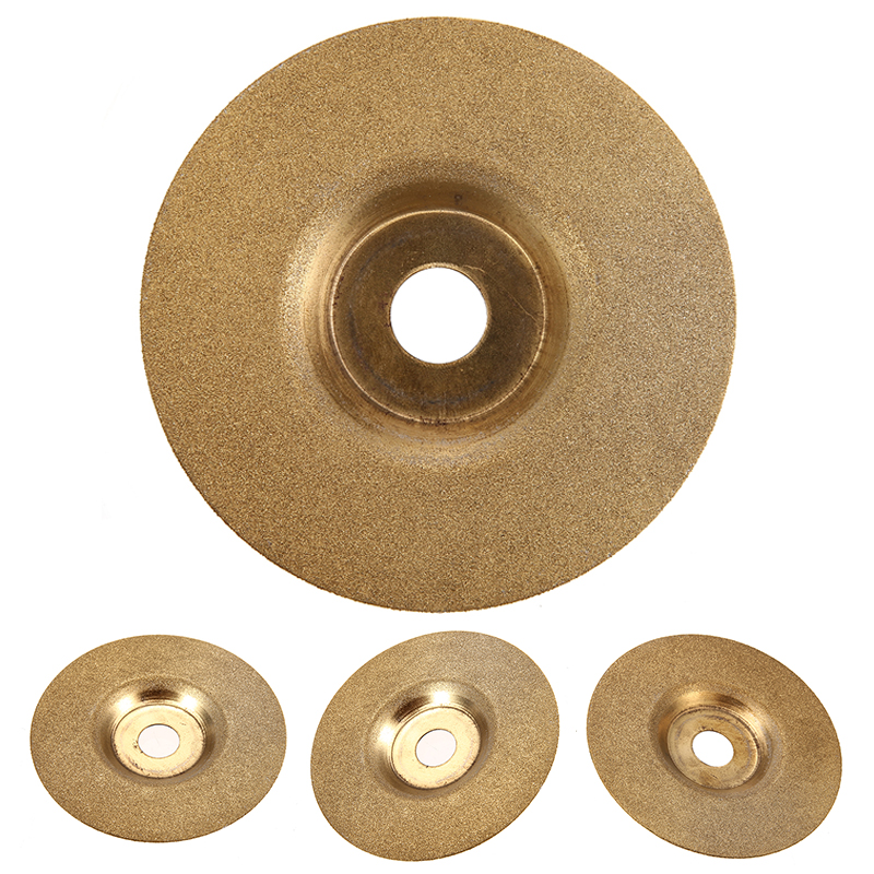 1pc 4inch Diamond Coated Grinding Wheel Disc For Angle Grinder Stone Sharpener Glass Grinding Cutter Rotary Tool 100mm*16mm Gold