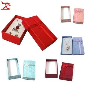 Image 1 - Boîte de rangement en papier pendentif 24 pièces, boîte cadeau couleurs variées boîte organiseur pour bijoux boucles doreilles 8*5*2.5CM