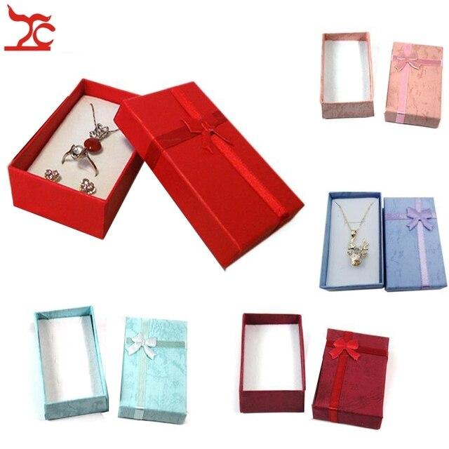 Boîte de rangement en papier pendentif 24 pièces, boîte cadeau couleurs variées boîte organiseur pour bijoux boucles doreilles 8*5*2.5CM
