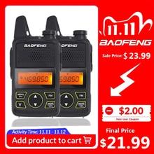 2 sztuk Baofeng BF T1 Mini dzieci Walkie Talkie UHF przenośne dwukierunkowe Radio FM funkcja Ham Radio Baofeng T1 USB dziecko HF Transceiver