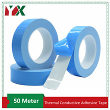 YX 50M/roll Double Side Thermal Conductive Adhesive Tape Transfer Tape for Chip PCB LED Strip Heatsink