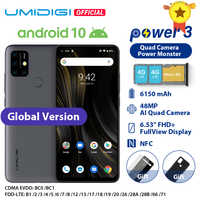 "UMIDIGI Power 3 Android 10 48MP Quad AI Kamera 6150mAh 6.53 ""FHD + 4GB 64GB Helio p60 Globale Version Smartphone NFC In Lager"