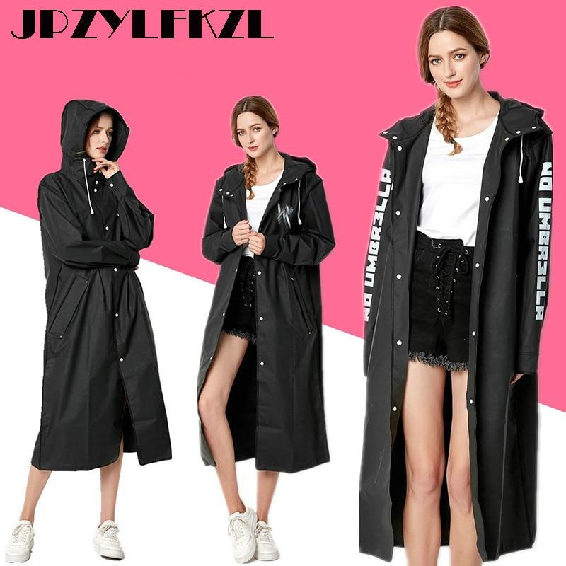 EVA Women Raincoat Rainwear Men Rain Coat Impermeable Capa de Chuva Chubasquero Poncho Japan Waterproof Rain Cape Cover HoodedRaincoats   -