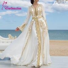 Роскошные вечерние платья из белого шифона с золотыми кружевами