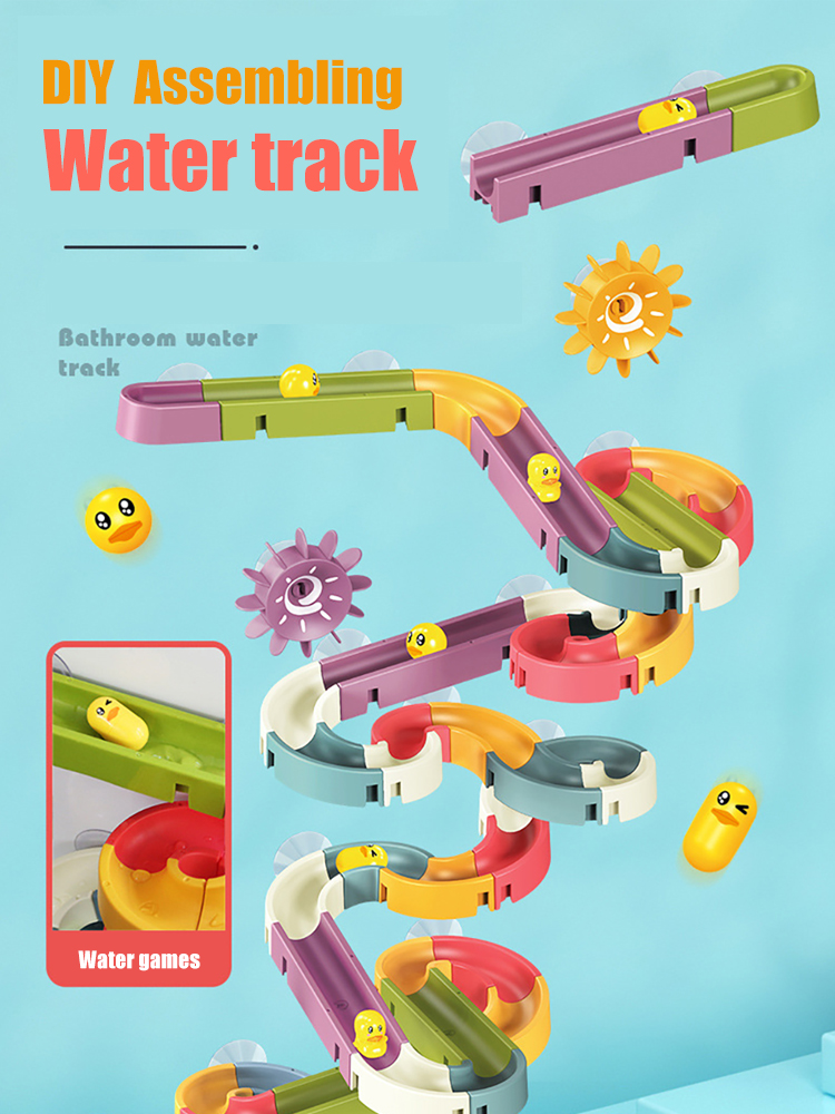 Bath-Toys Track-Bathtub Shower Car-Duck Water-Games Play Baby Kids Children's Babies