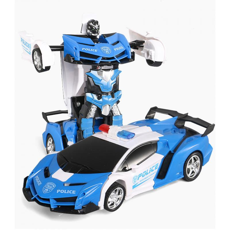1:18 RC Car Transformation Robots Sports Vehicle Model Robots Toys  RC Robot Car Remote Control 2 IN 1 Kid Boys Toy Xmas Gift US