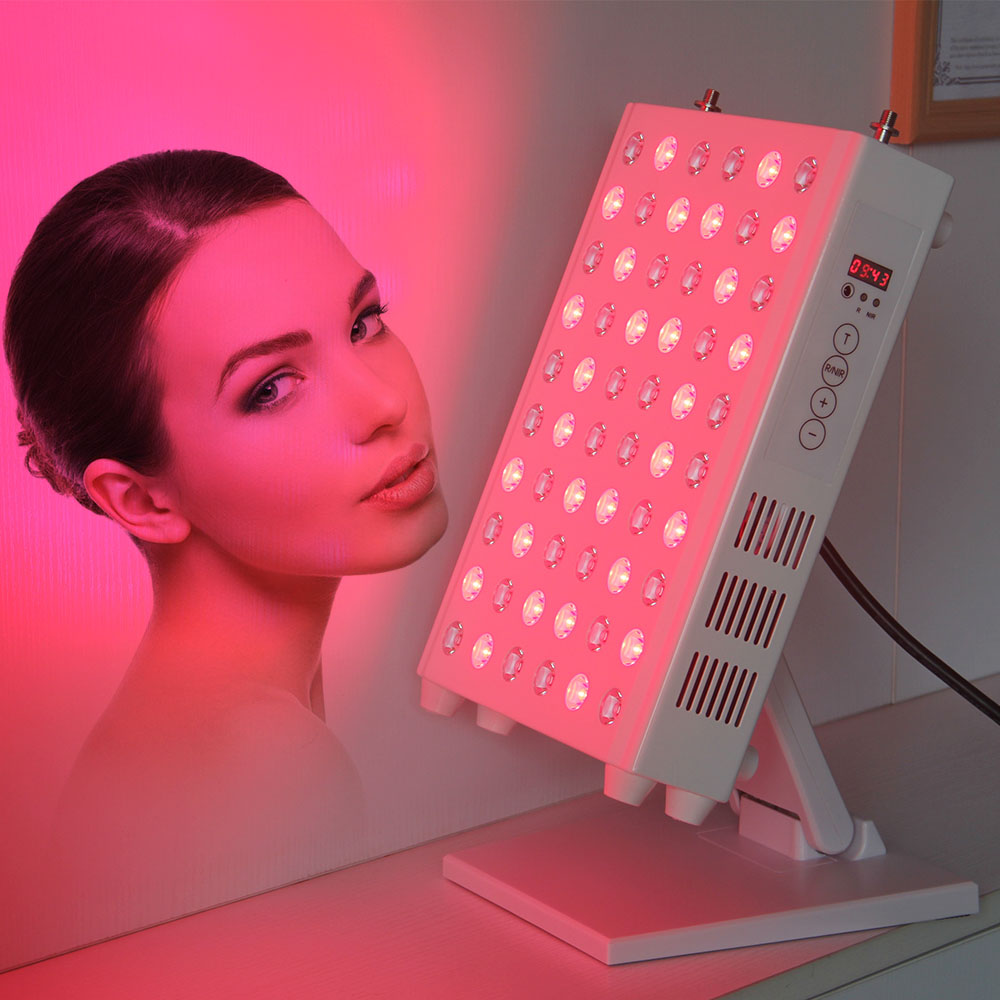 100W LED Light Therapy Lamp Panel 660nm 850nm Touch Screen Time Control For Muscle & Joint Pain Relief