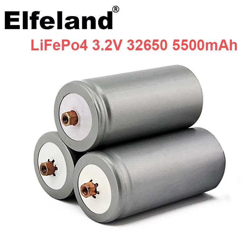 Elfeland 3,2 V 32650 5500mAh Lifepo4 Batterien Lifepo4 Batterie mit Schraube für Solar Licht