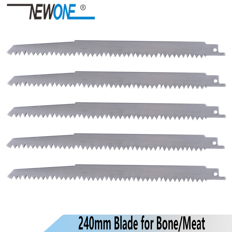 NEWONE 240mm Big Teeth Stainless Steel Reciprocating Saw Blade Saber Saw For Frozen Meat Bone Cutting Accessories Sawzall