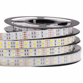 цена на Double row Led Strip RGB 120Leds/m White Warm white DC 12V 5050 SMD Waterproof IP20/67 Led Light Strip Lamp Tape Diode Backlight