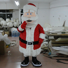 Santa Claus mascot cartoon figure ball costume