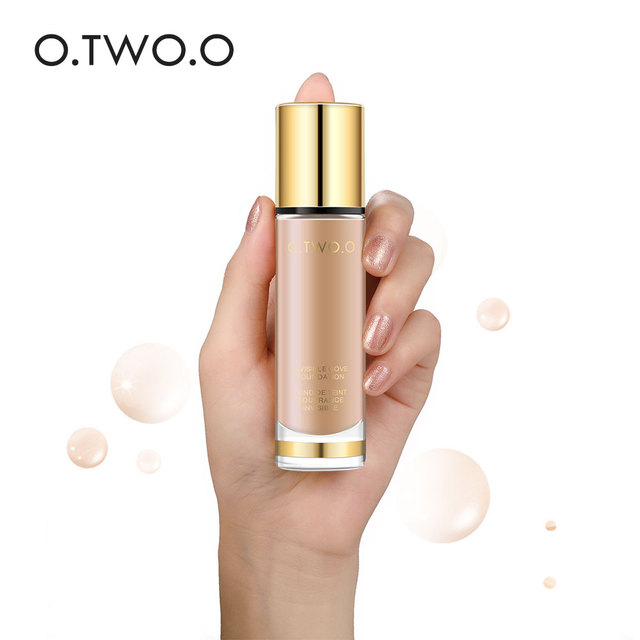 O.TWO.O Liquid Foundation Invisible Full Coverage Make Up Concealer Whitening Moisturizer Waterproof Makeup Foundation 30ml 5
