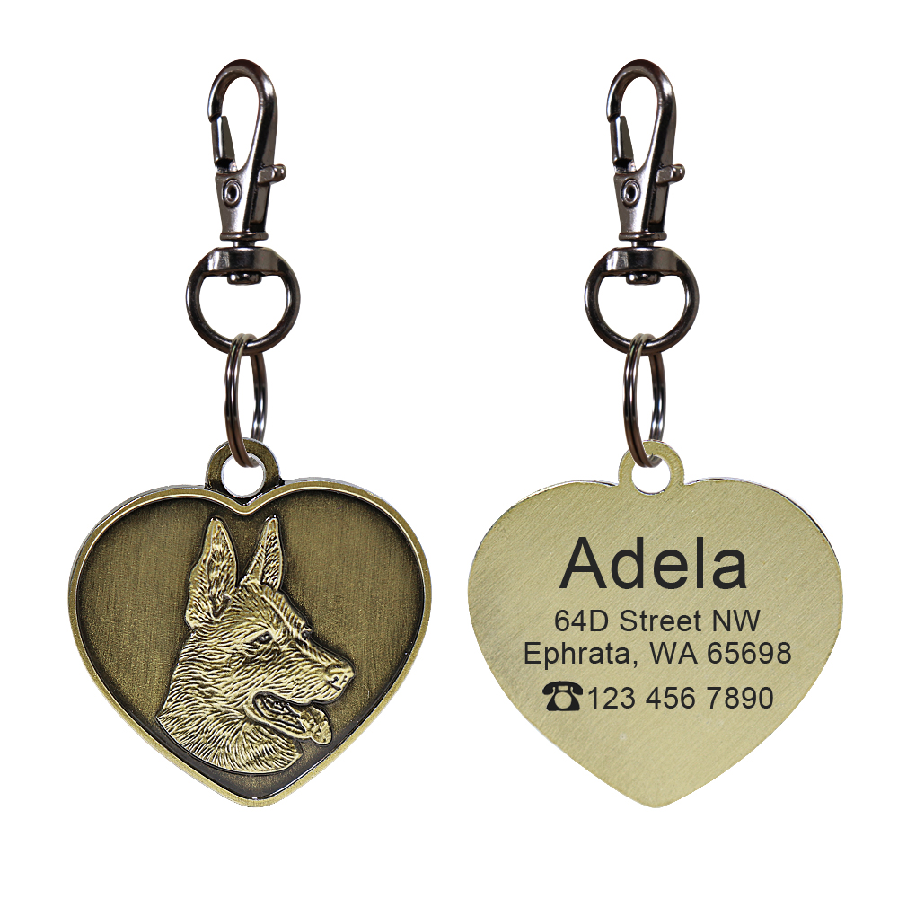 Collars, Harnesses & Leashes Dogs Custom Engraved Dog ID Anti-lost Pendant  My Pet World Store