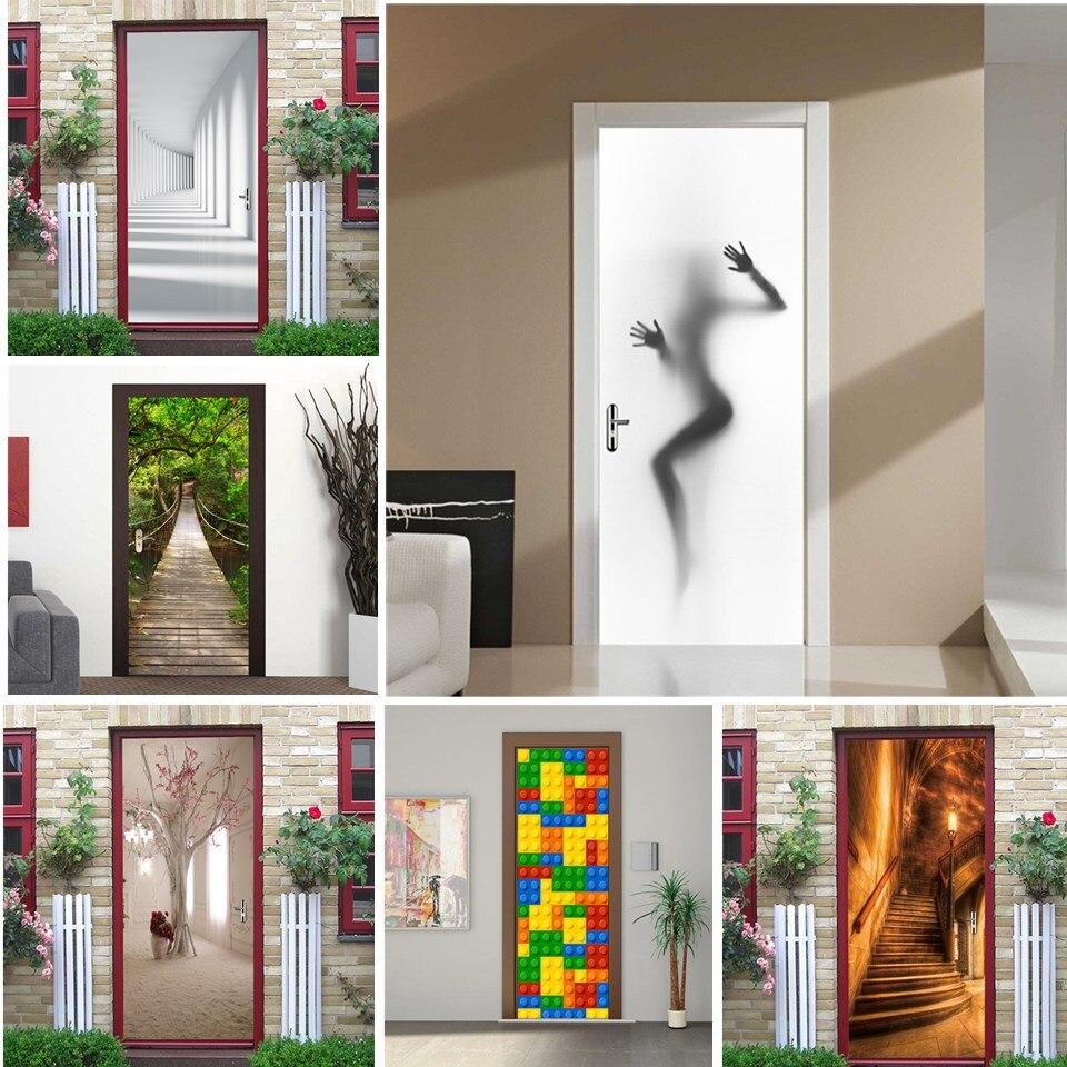 3D Sexy Girl Door Sticker Home Decor Living Room Bedroom Art Poster Wall Mural Decals Peel And Stick Wallpaper Vinyl Deursticker